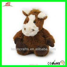 LE D212 Cute Sitting Plush Horse Soft Toys for Baby