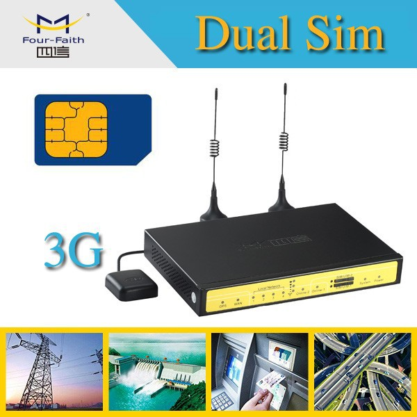 F7B32 Dual SIM Card 3G Wireless Router4G Wireless Router with SIM Card Slot Portable HSPA+ Router