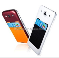Mobile Wallet Self Adhesive Slim Phone Pocket Stick to Your Phone or Case to Hold Cards and Money