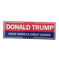 UV printed outdoor vinyl sticker make american great again