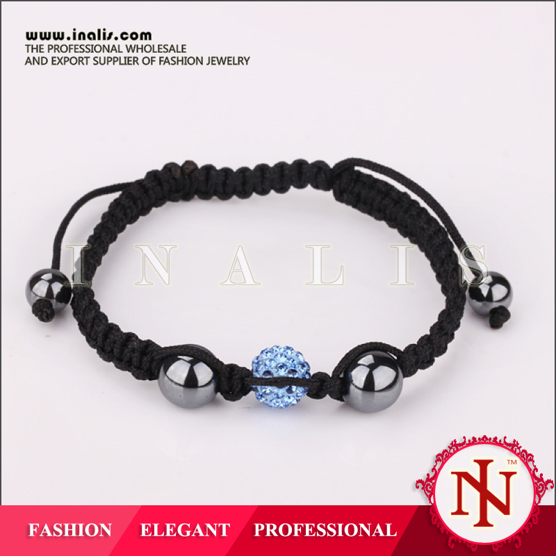 Wholesale lucky crystal beaded stretch bracelets B021