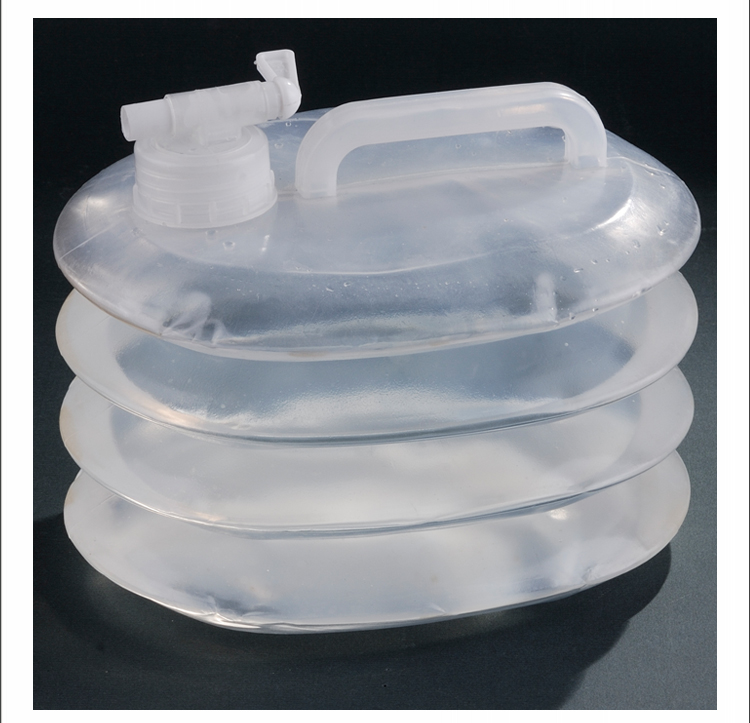 New 1 Gallon Clear Silicone Collapsible Water Bucket