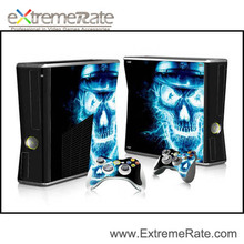 Light skull pattern Skin Sticker For XBOX 360 for xbox360 + Controller Skins + FastShipping