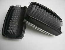 Plastic black double-sided nail brush,nail care product