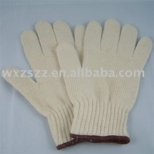 Cotton knitted working gloves machinist/industrial work glove