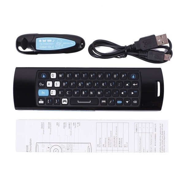 Best price remote control melo F10 2.4GHz Wireless Air mouse mele f10 pro for Android