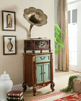 Classic Woonden Design Radio Record Player Gramophone