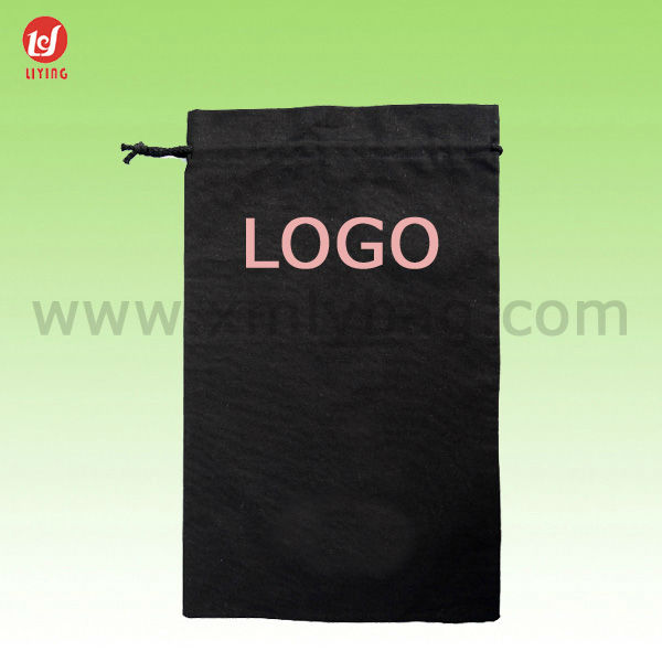 Black Custom Cotton Bags Promotion/Cheap Promotional Drawstring Bags/Cheap Promotional Bags