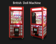 2017 new style coin operated games pusher toys gift vending arcade claw crane machine for sale