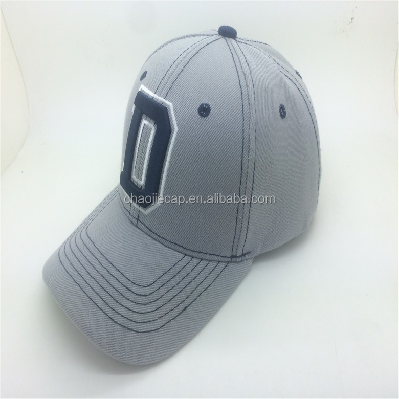 6 panels baseball cap with 3D ebmroidery