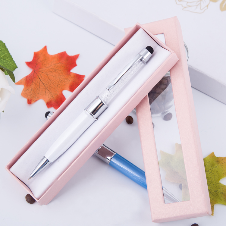 2018 Hot Sale Charming new Design Metal Crystal Ball Pen with stylus