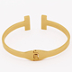 Gold Plated Stainless Steel Plain Open Cuff Bracelet Bangle Custom