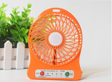 4-inch 3 Speeds Portable Rechargeable Desktop Fan Battery/ USB Powered Laptop Cool Cooler Fan with Battery and USB Charge Cable