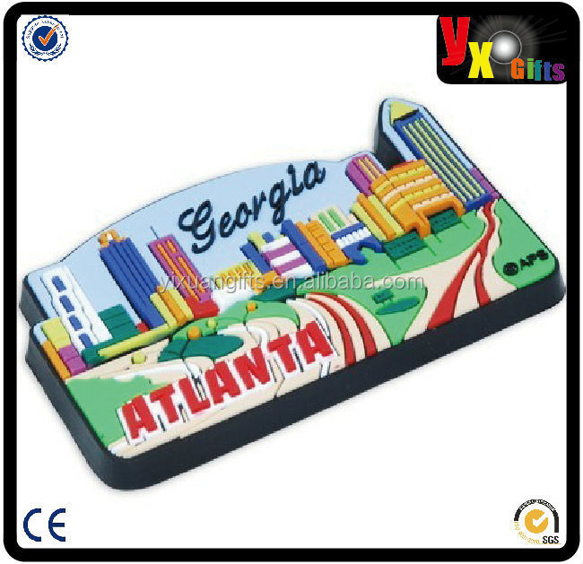 Greece souvenirs custom 3d fridge magnet/souvenir new york rubber fridge magnet/advertising 3d soft pvc fridge magnet