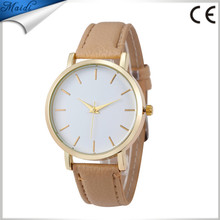 Fashion Leather Band Women Analog Quartz WristWatch Vogue Ladies Casual Wrist Watch GW121