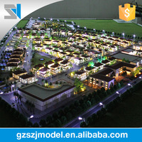 Multimedia effects rendering miniature building model