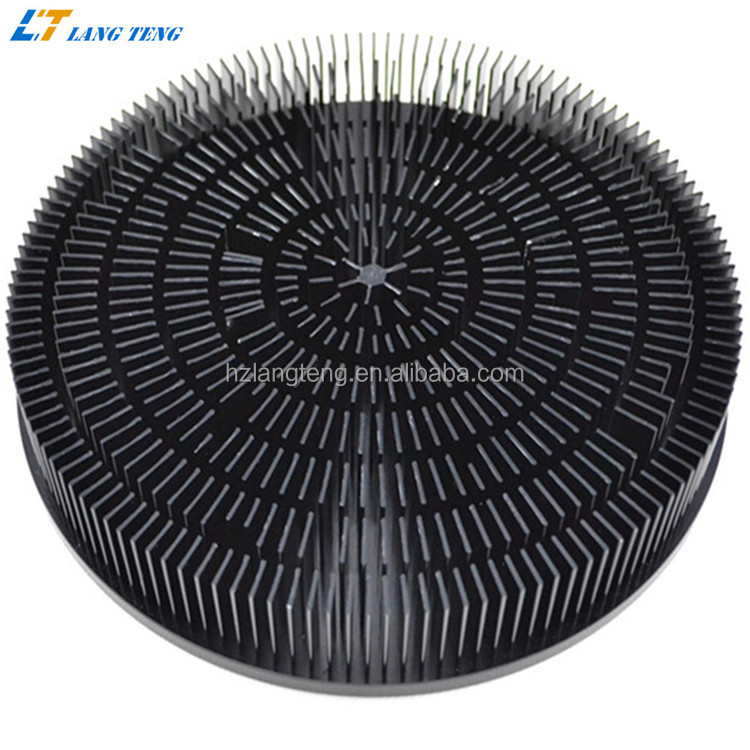 Diameter 210mm Cold Forged Heatsink for 100W LED Ceiling Lighting