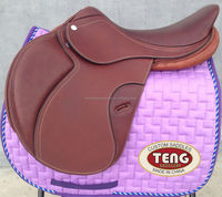 Spanish leather horse saddle,jumping saddle