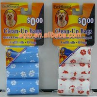 degradable dog shaped pet waste poop bag