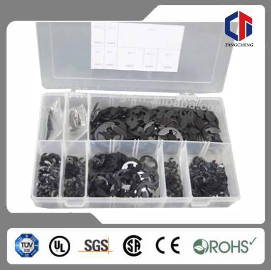 TC-L789 800pc BV Certification Hardware Assortment Metric External Circlip Retaining Snap On Ring Assortment E Clip Set