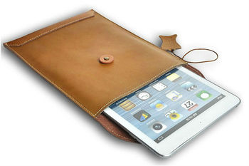 For ipad mini pouch;leather bag ;for ipad mini leather pouch