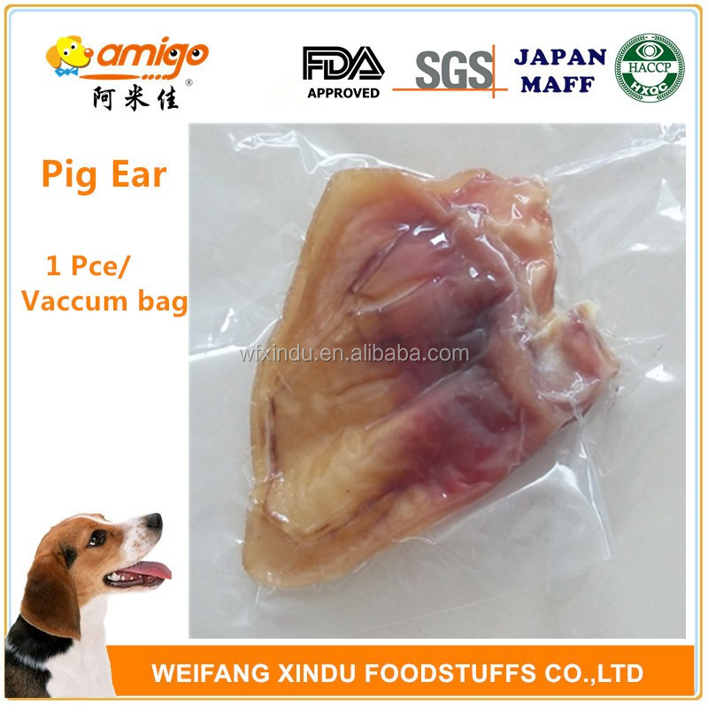 Pig Ear Packed in Vacuum Bag best qulity dog treats