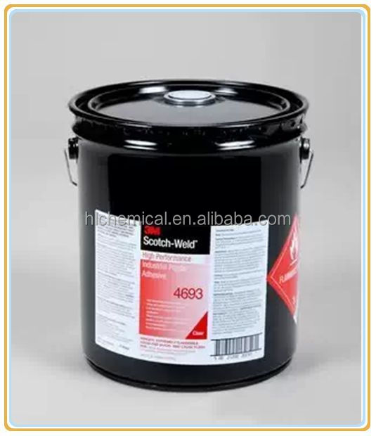 3M(TM) Scotch-Weld(TM) High Performance Industrial Plastic Adhesive 4693 Light Amber, 5 gallon