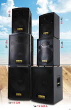 "SV Active/passive solid built wooden performances line array speaker system for live venue and clubs from 10"" to 15"" speaker"