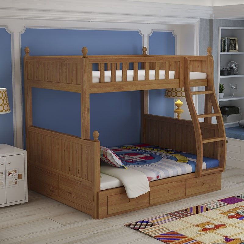 Sc0503 Children Wooden Double Bed Designs For Two Children   Buy Children  Wooden Double Bed Designs,Wooden Children Bed,Bed For Two Children Product  On ...