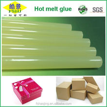 Light Clear Yellow Hot Melt Glue Stick No Attaching Hot Melt Silicon Bar For Gift Box