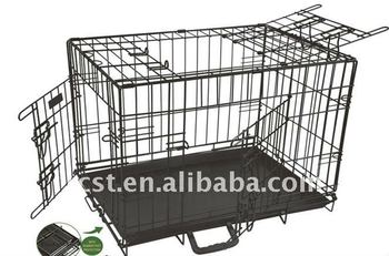 collapsible/folding pet crate cage
