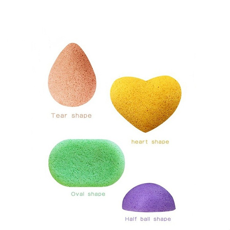 100% Natural Pure Complexion Sensitive Charcoal Cleansing Organic Bath Face Konjac Sponge