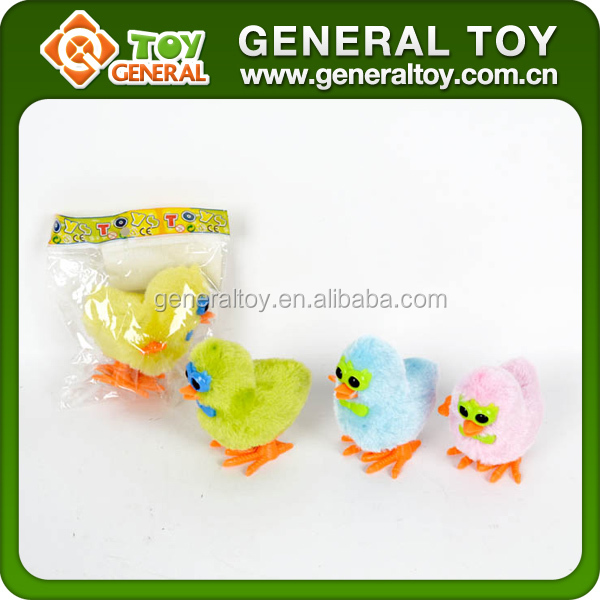 8*6*5cm Wind Up Toy Mini Plush Chicken Toy