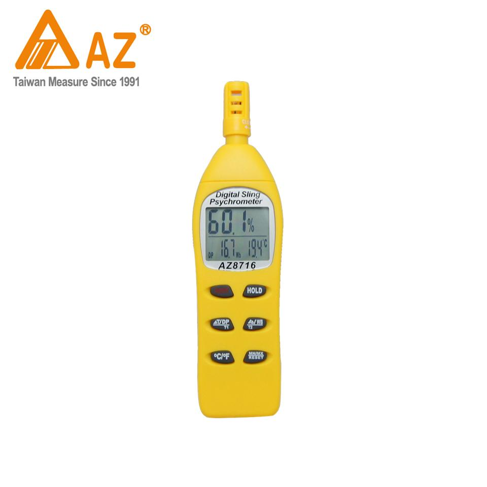 8716AZ Pocket Temperature Probe Humidity Sensor Thermometer Hygrometer