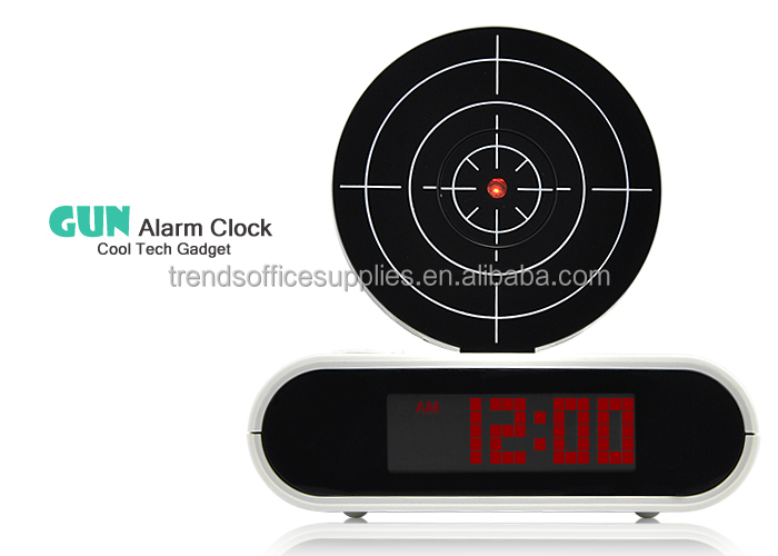 Stoga Creative Clock/Remote Gun Alarm Clock Shooting Target/Red LED Screen alarm clock voice recorder