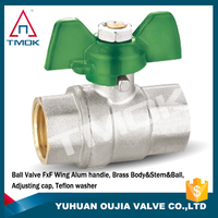 mounting pad magnetic lock brass ball valve with long stem