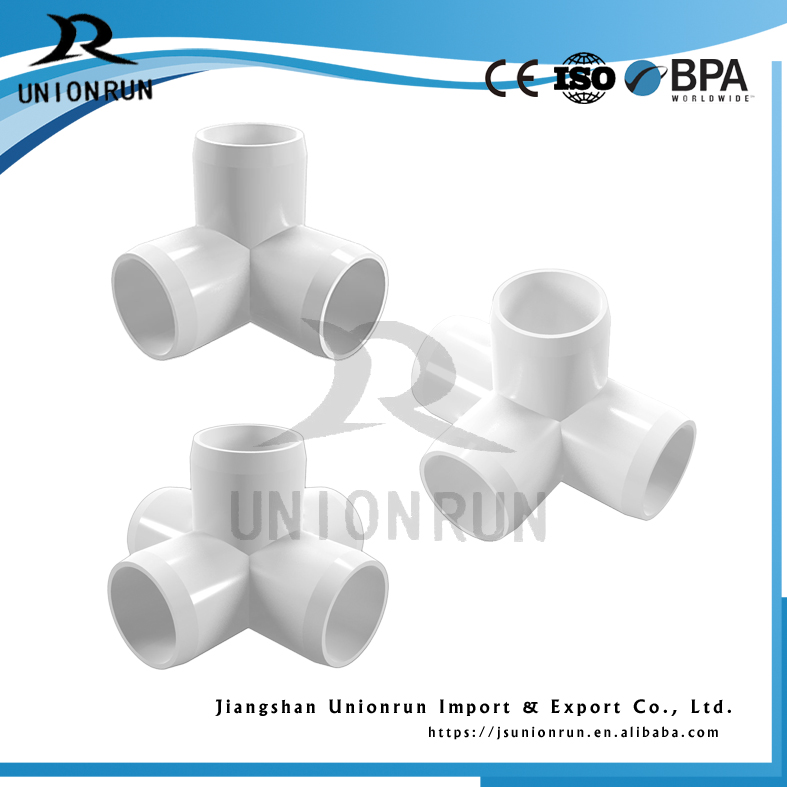 Price List Plastic Pvc 3 Way Elbow Corner Fitting Pvc Connector