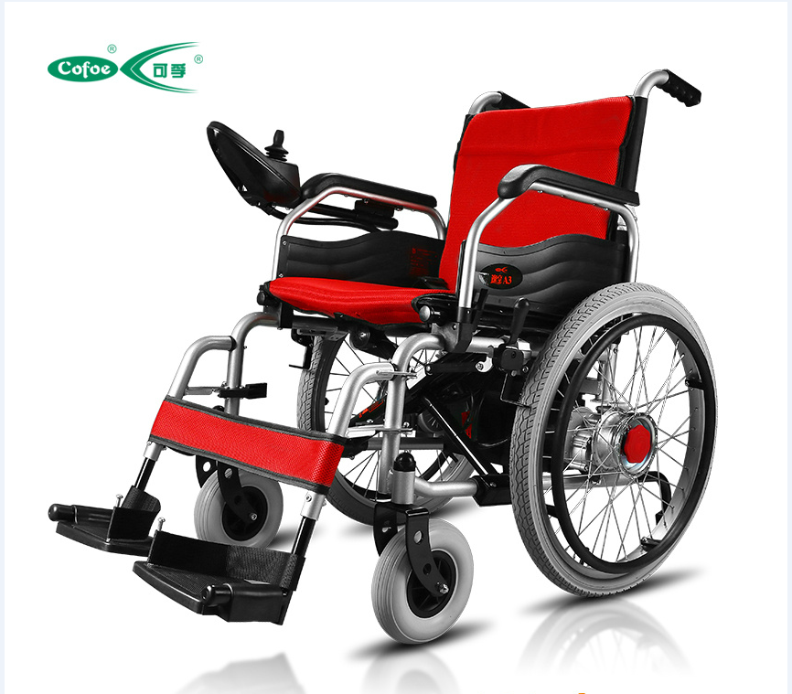 2016 hot sell aluminum foldable power wheelchair with motor controller and lithium battery electric wheelchair