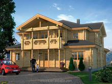 Two Floors Wooden Cabin Log House For Sale High Quality Log House