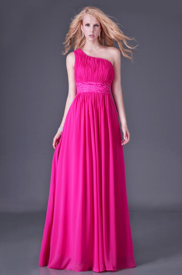 Hot Sale Women One Shoulder Long Bridesmaid Dress Grace Karin ...