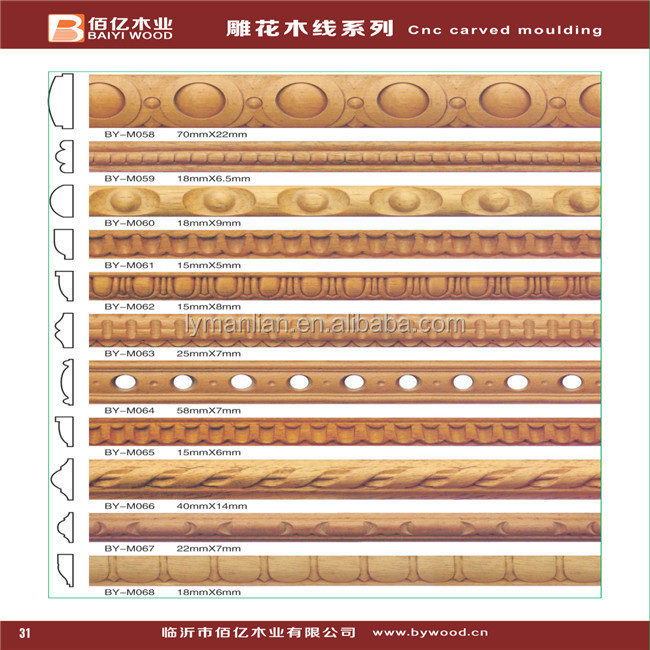 Decorative wood carving cabinet molding trim buy Crown molding india