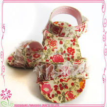 Wholesale doll shoes flowers printing shoes for dolls