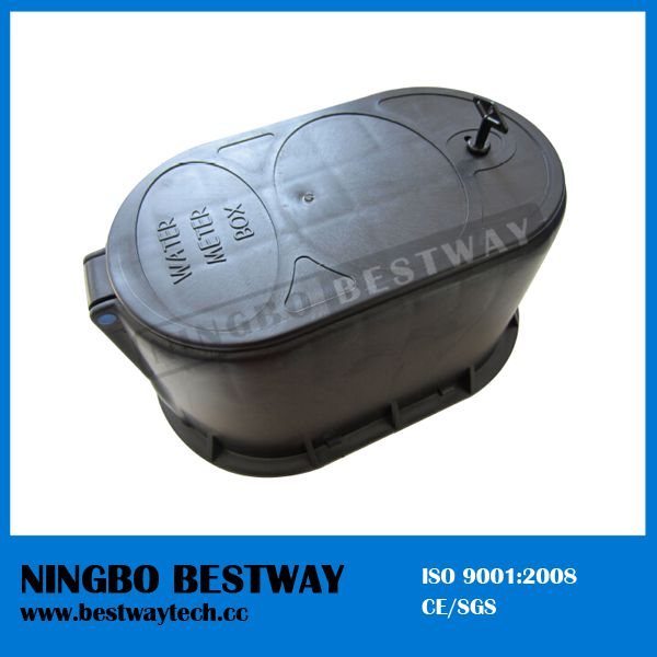 Hot Sale Plastic Water Meter Box with plastic or Brass Accessories