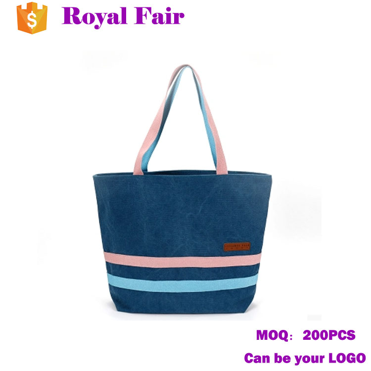 Color Blocking High Quality Canvas Bag Tote bag
