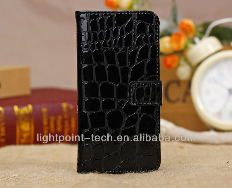 Crocodile Skin Grain PU Leather Case for Iphone 5C With Stand Function