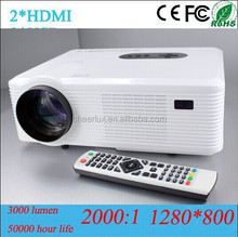 16:9 Big Screen Mini hd Projetor Support 1080p 3D Can Connect Telephone/Ipad/DVD/PS3/WII/PC