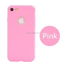 frosted transparent tpu bumper case crystal shockproof tpu case for iPhone6 iPhone 7