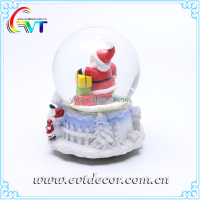New Product 2017 Glass Xmas Santa