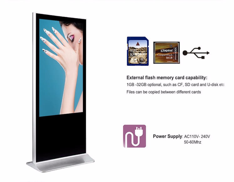 42 Inch Stand Alone LCD Advertising Digital Signage Touch Sreen Video Display