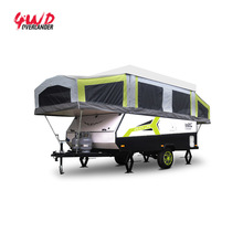Full Equipped Touring Pop Up Campers Trailer in Campsite